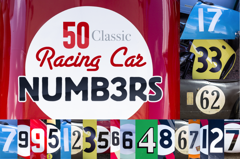 Classic Race Car Numbers