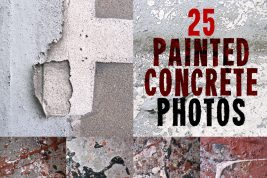 Painted Concrete Photo Set