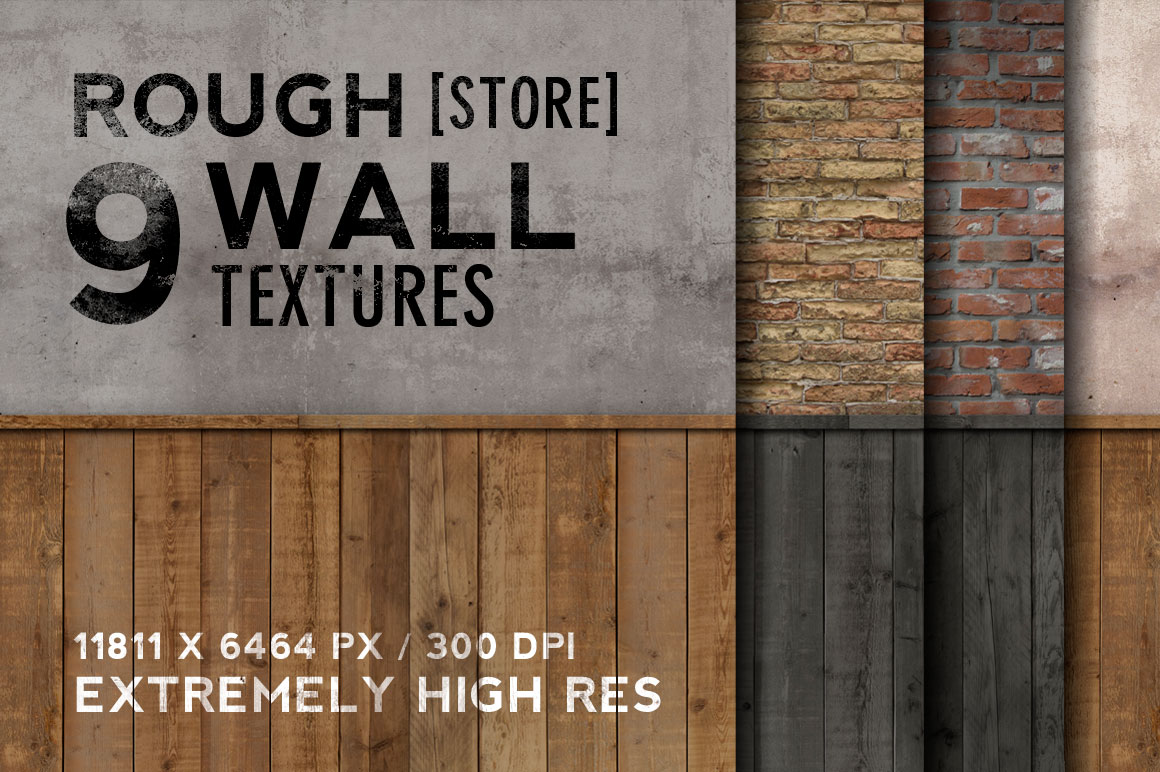 Fresh Design Elements - Rough Store Wall Textures