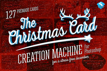 Christmas Card Creation Machine Photoshop Layer Styles